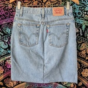 Levi's upcycled denim skirt sz 6 / 28
